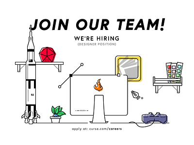 Curse is hiring! huntsville gaming curse position job career designer
