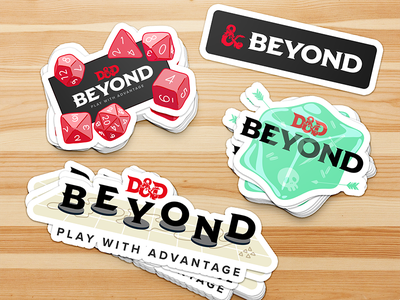 D&D Beyond Stickers d20 dice tabletop rpg dnd dungeonsanddragons dndbeyond