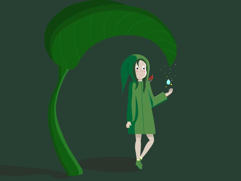 1 лето лес иллюстрация вектор