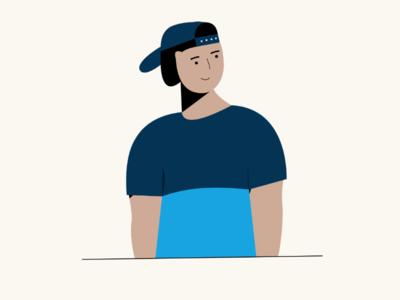 🧒 Character boy character illustrator adobe design flat illustration