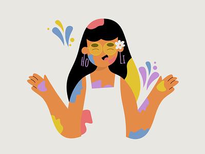 Colors women in illustration shapes digital illustration artists flatdesign illustraion illustration art adobe illustrator vector minimal india 2d flat illustration character adobe design illustration illustrator