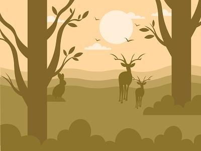 View 🦌 art vector ecology forest artist digital design flat 2d adobe illustrator illustration