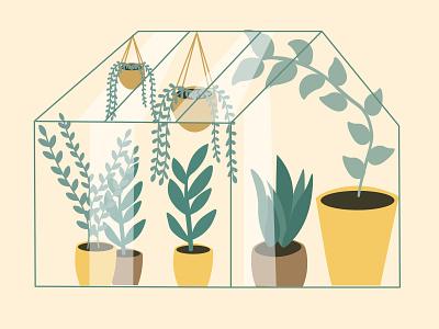 Plant Kingdom 🌿 freelancer minimal art artist digital green plant vector 2d flat adobe illustrator design illustration