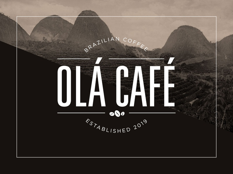 Ola Cafe Logo brazilian coffee typography branding logo
