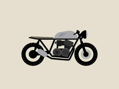 Cafe Racer cafe racer illustration motorcyle vector simple clean