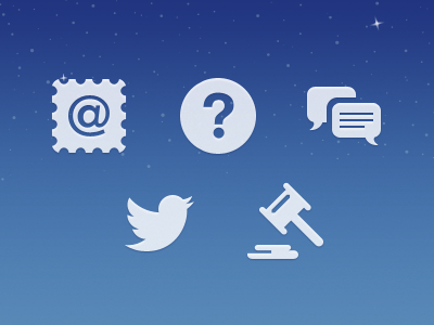 About Icons just landed app iphone icons clean ui sky about sharing glyph