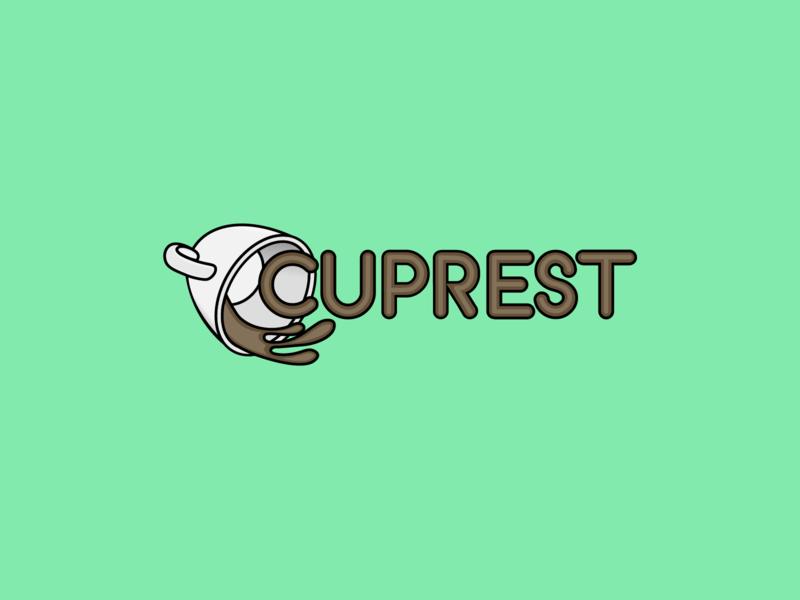 Cuprest Cafeteria illustration logo branding design
