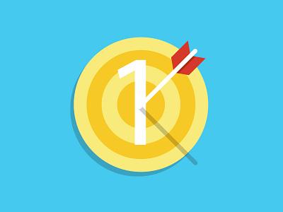 Target flat icon target