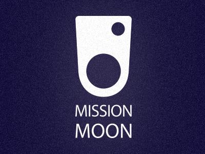 Mission Moon logo moon mission retro simple