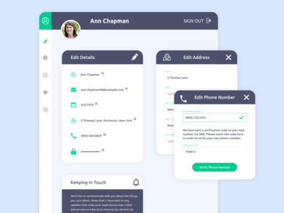 Editable User Profile - Daily UI 006