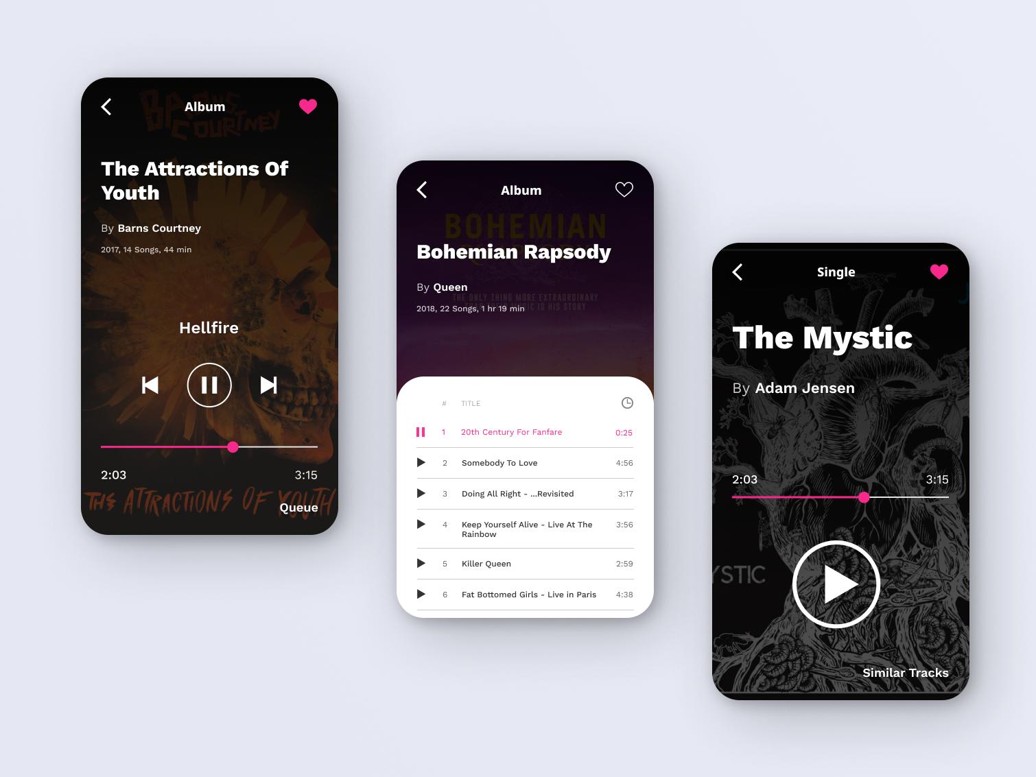 Music Player - Daily Ui 009 playlist music spotify app design music player app music player mobile app mobile ui flat daily ui dailyui design