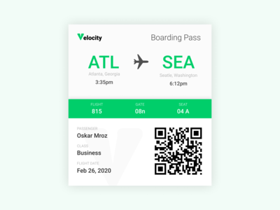 Boarding Pass   Daily Ui 024