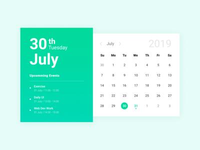 Calendar - Daily Ui 038