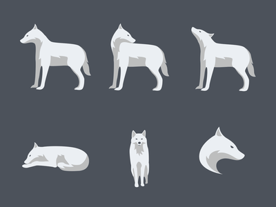 Wolf Pack | illustrations | Companion illustrations sketchapp sketch animal poses wolf branding vector illustration ui design ui