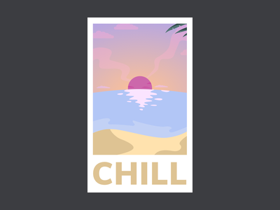 Chill Poster | Calm Dribble Playoff relaxing fun poster chill calm playoff vector illustration ui design ui