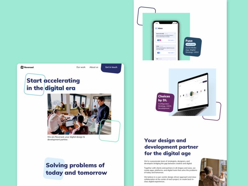 Reversed | Homepage redesign | Digital agency agency digital redesign website homepage ui design ui