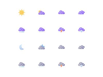 Weather icon set design ui design ui weather icon icon weather