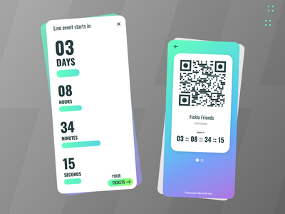 14 :: Countdown tickets mobile countdown dailyui 028 dailyui ui