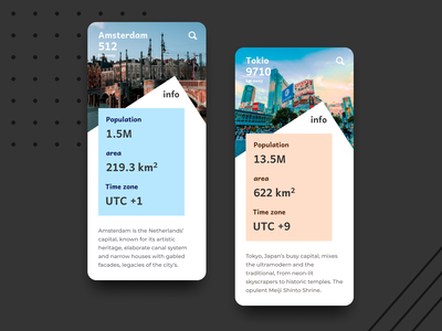 45 :: Info Card mobile app design info card dailyui 045 dailyui ui