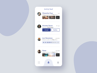 47 :: Activity feed mobile activity feed dailyui 047 dailyui ui
