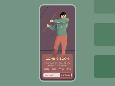 48 :: Coming Soon mobile coming soon dailyui 048 dailyui ui