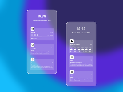 49 :: Notification glassmorphism mobile notification dailyui 049 dailyui ui