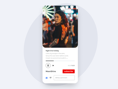57 :: Video Player mobile video player dailyui 057 dailyui ui