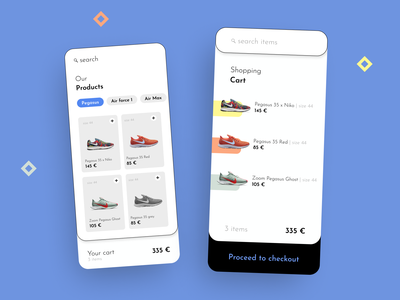 58 :: Shopping Cart mobile shopping cart dailyui 058 dailyui ui