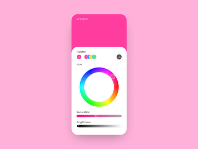 60 :: Color Picker mobile color picker dailyui 060 dailyui ui