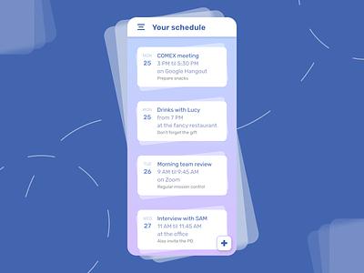 71 :: Schedule mobile schedule dailyui 071 ui dailyui
