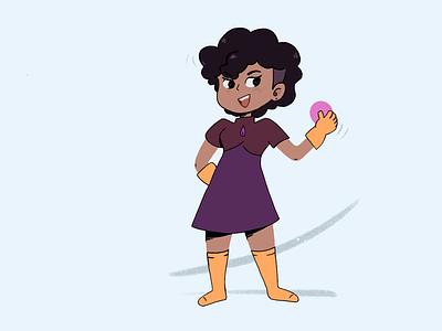 The Orb procreate dress girl drawing illustration