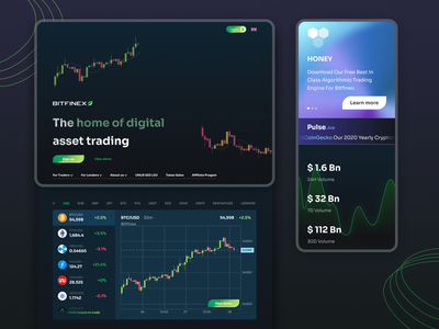 Cryptocurrency exchange :: Homepage Hero website webdesign crypto