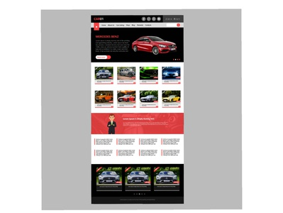 UI design of a commercial car website