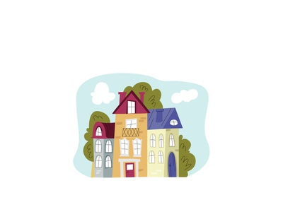 buildings flat modern style simple vector illustration historic architecture home house building