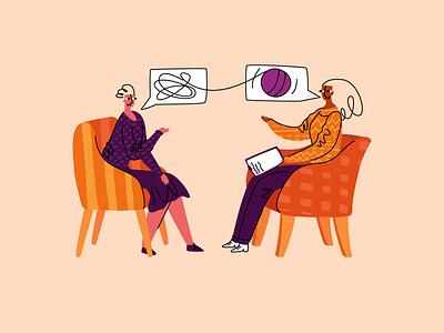 psychotherapy1 emotion flat modern style simple vector illustration solution stress problem appointment psychology psychotherapy