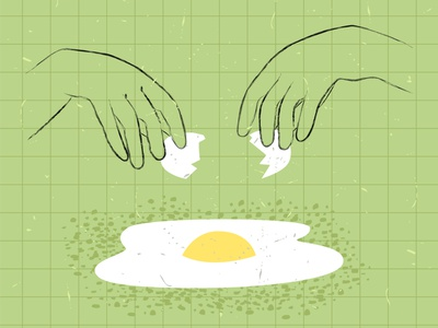 cocktail1 simple design yellow line green texture modern style illustration vector process hands cooking scrambleed eggs frying break egg