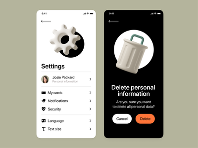 3D Casual life objects in Mobile UI mobile app 3d illustrations design minimalistic ui branding ux app design mobile design ios 3d objects