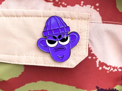 Purple dude Pin enamel enamel pin character illustration fashion branding vector merch ilustrator design metalic metal purple metal pins pin