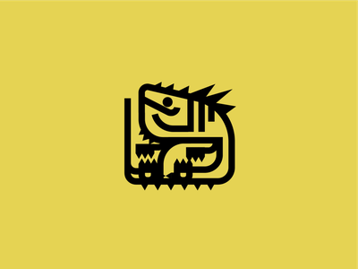 Great Jagras - Monster Hunter stroke character vector minimalist monster hunter reptiles illustration iconography icon gaming monster yellow reptile iguana