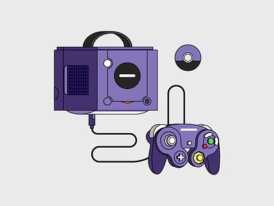 Gamecube oldschool console videogames gaming game purple icon cd controller nintendo gamecube retro