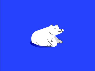 Polar Bear weather polar bear white cold derp icon blue bear animal nature polar