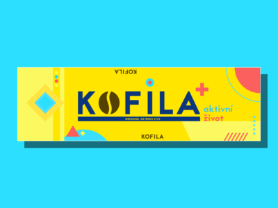 KOFILA Package Redesign coffee symbol logo colorful lifestyle art product flat geometry package branding illustration