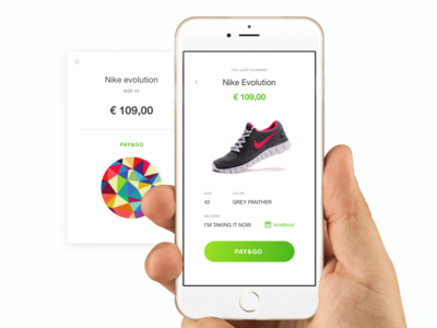 Pay&Go  marian price tag mobile app design sales retail shop customer buy future