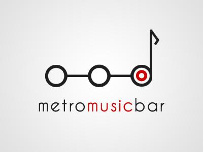 Logo / Metro Music Bar bar brno clean design logotype metro music logo brand visual identity