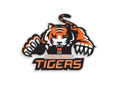 Tiger vector minimal illustration design flat