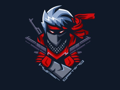 Hyper Gaming Logo pubg mobile pubg esportlogo esports gaminglogo gaming logo icon vector minimal illustration design flat
