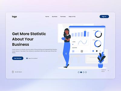 Business Statistic business statistic business landing page design landing page web header web design ux design ui design user experience user interface ux ui