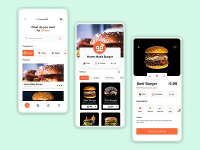 Food app restaurant food delivery delivery food ui design uidesign ui ux uidesigner app design apple application ui ux