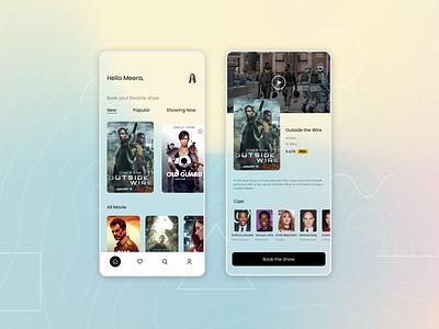 Movie ticket booking glassmorphism ux design ui ux uxdesign uidessign application app design ticket ticket booking movie booking movie app ui