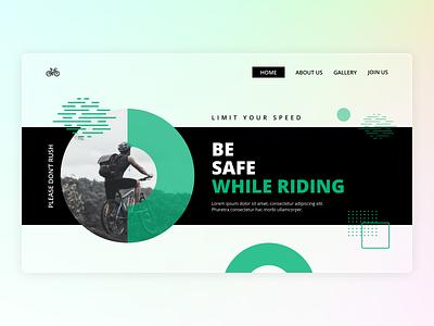Safe Riding branding safe riding website web header web design glassmorphism ux ui minimal flat design